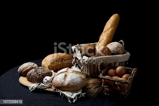 istock baking on a black background 1072203410