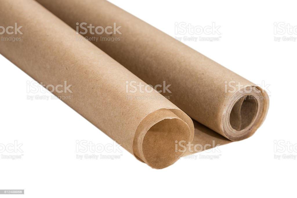 baking paper on a white background stock photo