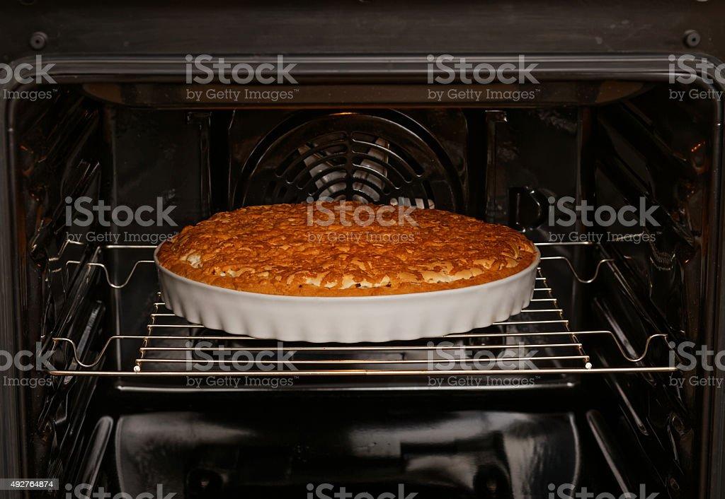 Baking Kuchen mit Apfel und Zitrone – Foto