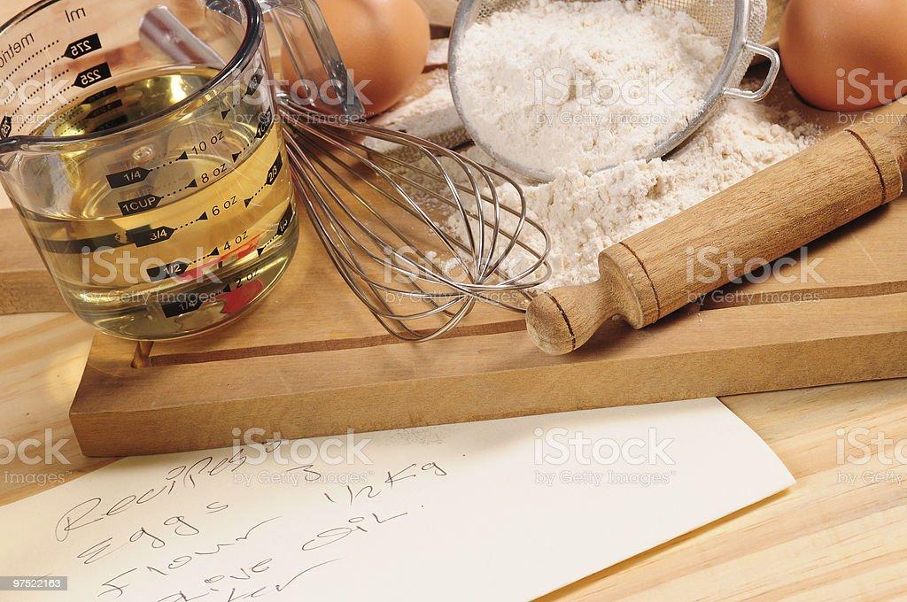 Baking recipe. royalty-free stock photo