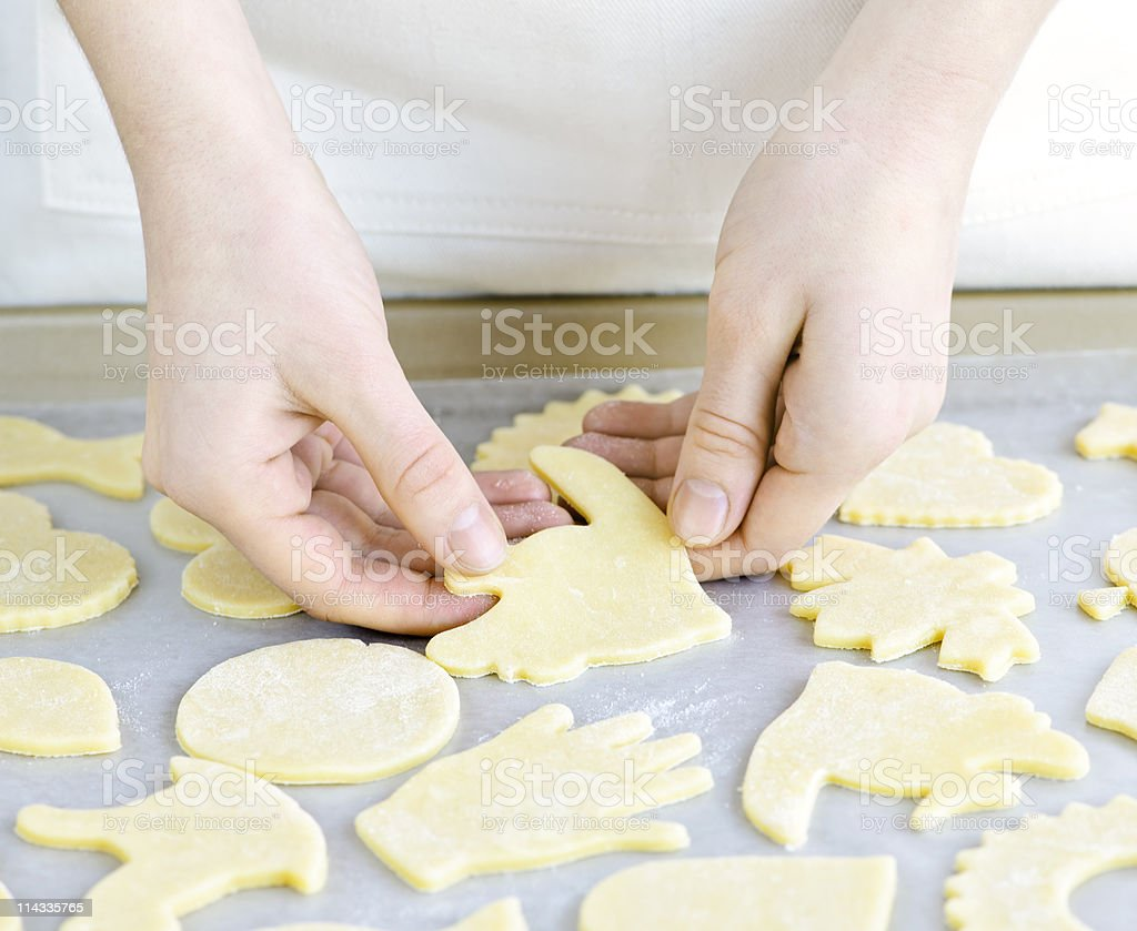 Baking sheet with cookies royalty-free stock photo