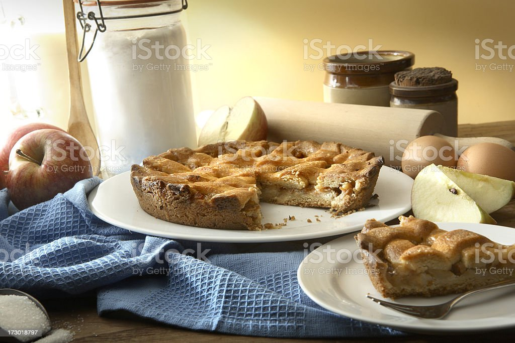 Baking Stills: Apple Pie royalty-free stock photo