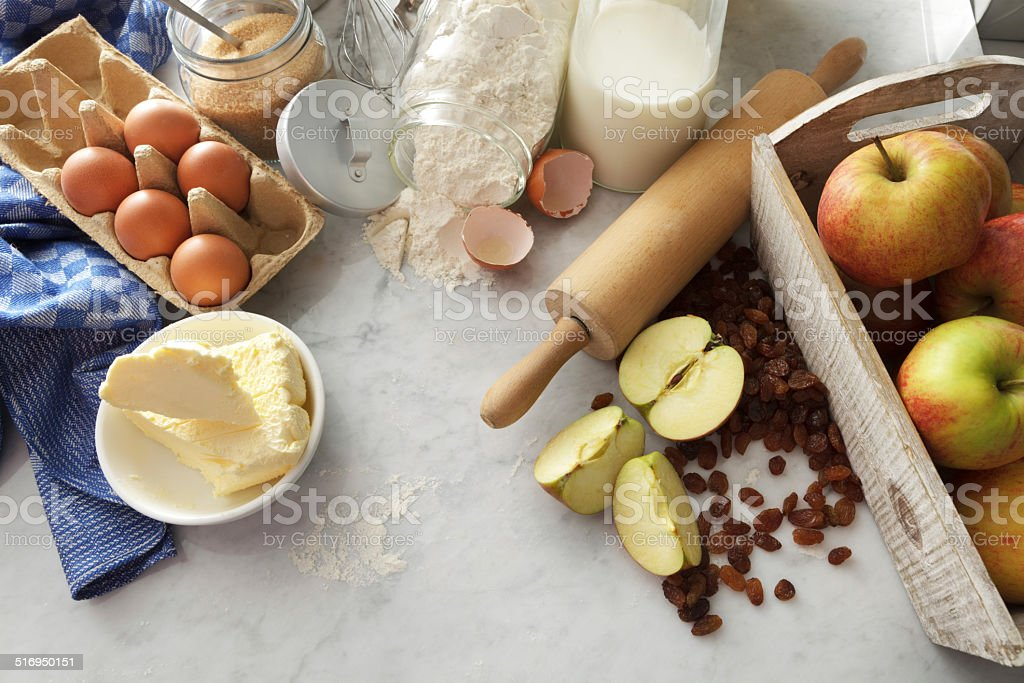 Baking Stills: Ingredients stock photo