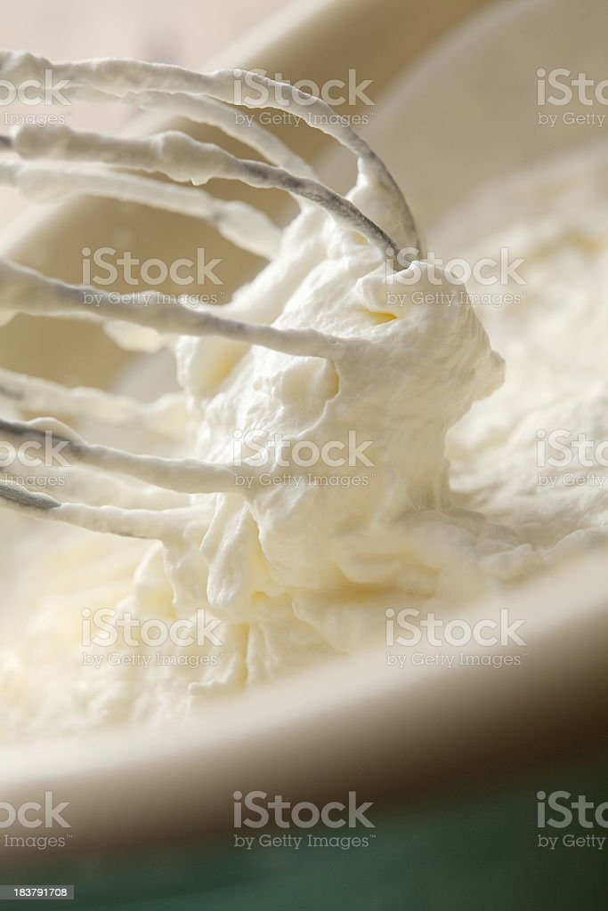 Baking Stills: Whipped Cream and Whisk royalty-free stock photo