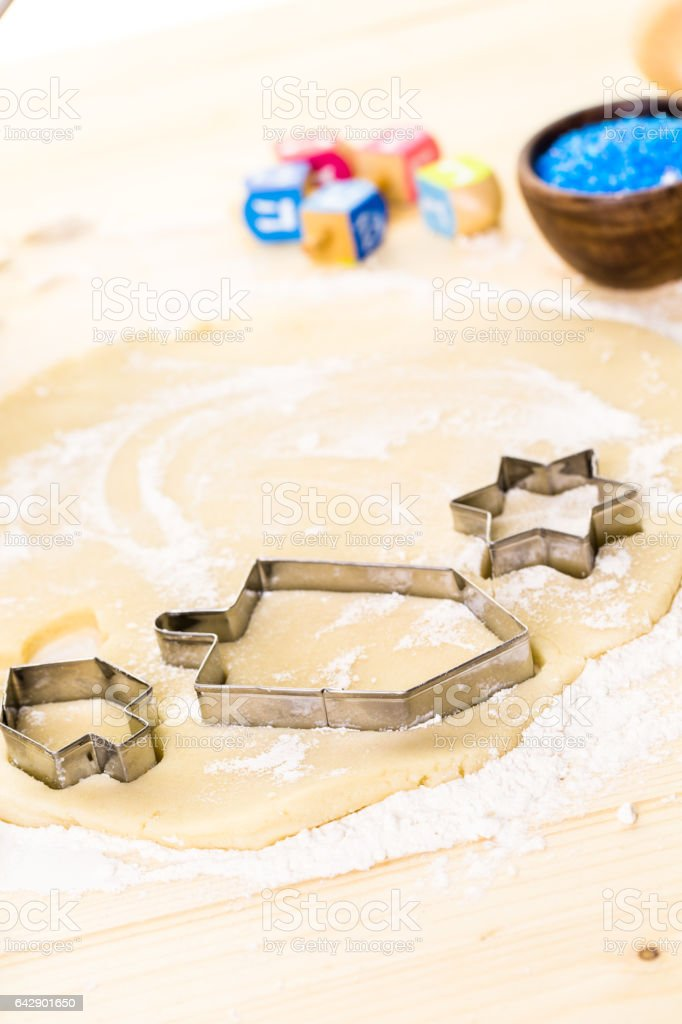 Baking sugar cookies stock photo