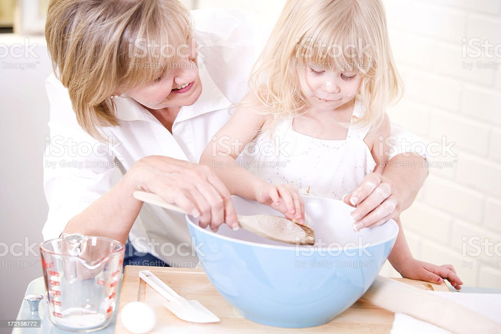 Baking Together royalty-free stock photo