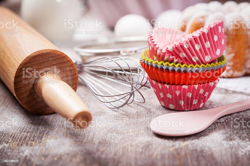 Baking utensils stock photo
