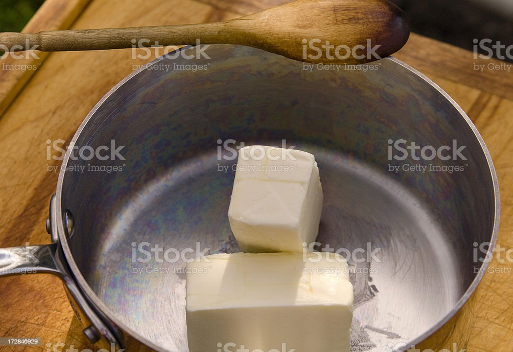 Baking with Butter! royalty-free stock photo