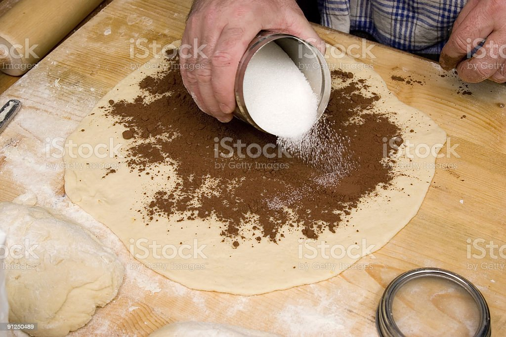 Baking with Sugar royalty-free stock photo