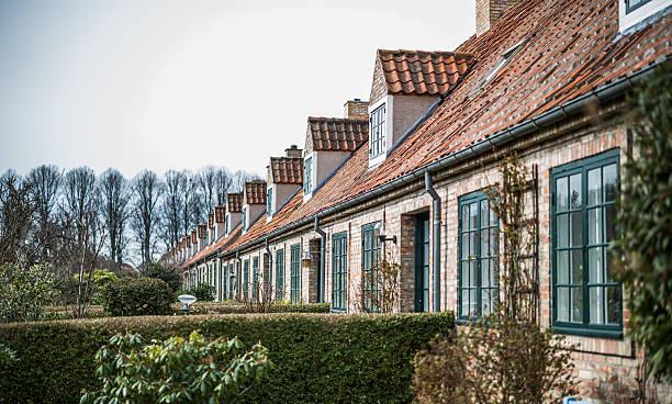 Bakkehusene - the Hill Houses - Copenhagen, Denmark stock photo