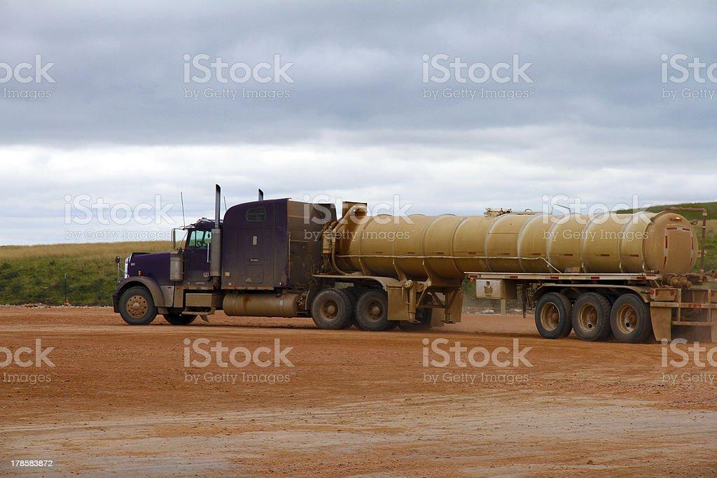 Bakken Water Truck royalty-free stock photo