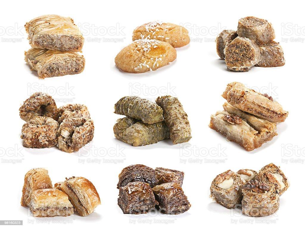Baklava dessert collection royalty-free stock photo