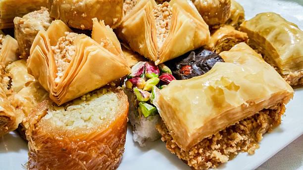Baklava - different varieties in closeup - Photo