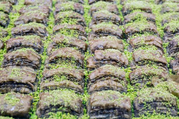 Baklava from Turkish cuisine stok fotoğrafı