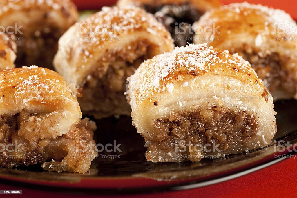 Baklava, traditional turkish dessert royalty-free stock photo
