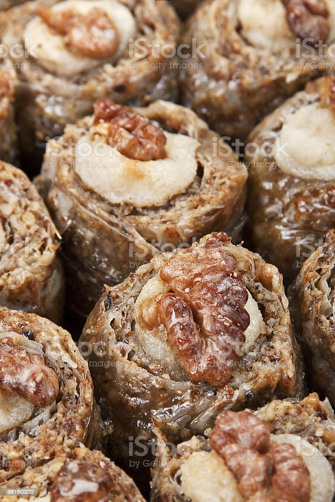 Baklava with walnut royalty-free stock photo