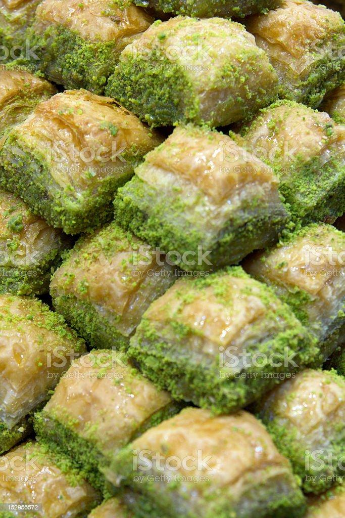 Baklava Typisch Turkische Pistazienkuchen Stock Fotografie Und Mehr