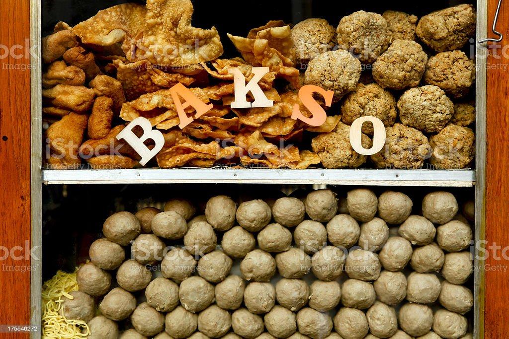 Bakso Indonesian Cuisine Java Bali Indonesia royalty-free stock photo