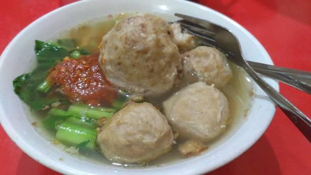 Bakso, comida Indonésia - foto de acervo