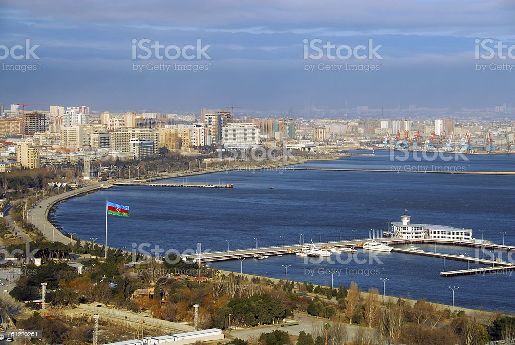 Baku, Azerbaijan: the Bay stock photo