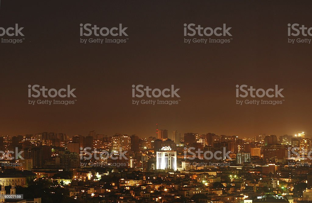 Baku city at night royalty-free stock photo