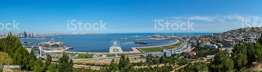 06.15.16. Baku. The view from the observation deck. Nagorny Park stock photo
