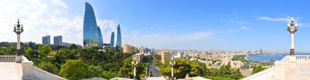 baku,panoramic view from the mountain park - azerbejdżan zdjęcia i obrazy z banku zdjęć