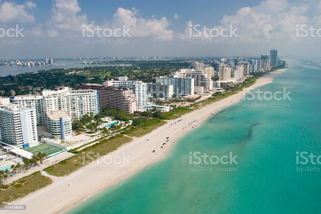 Bal Harbour in Miami beach stock photo