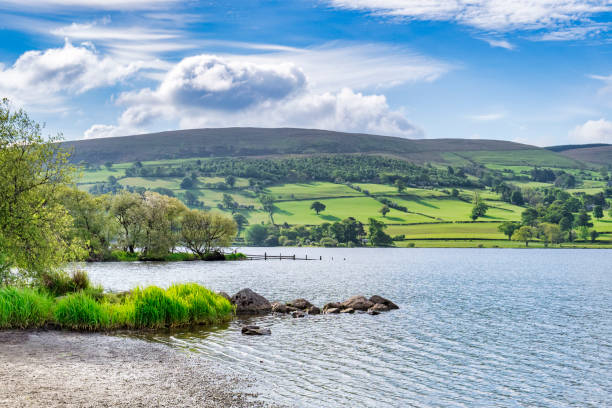 bala lake, noord-wales, verenigd koninkrijk - caernarfon and merionethshire stockfoto's en -beelden