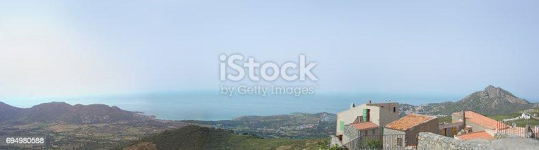 istock Balagne Panorama from Saint Antoninu village 694980588