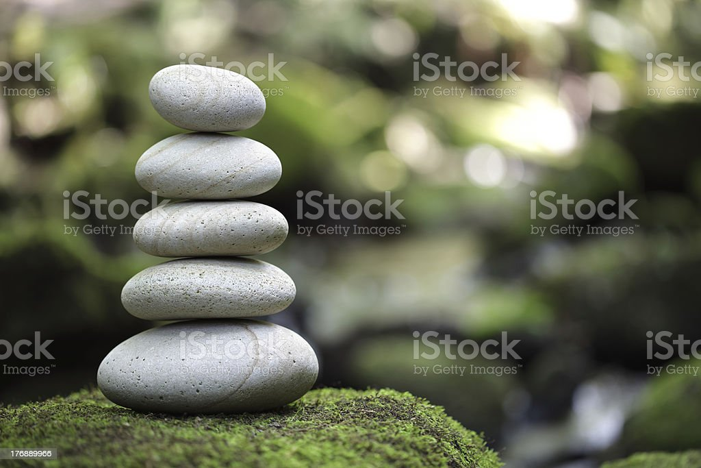 Balance and harmony in nature stock photo