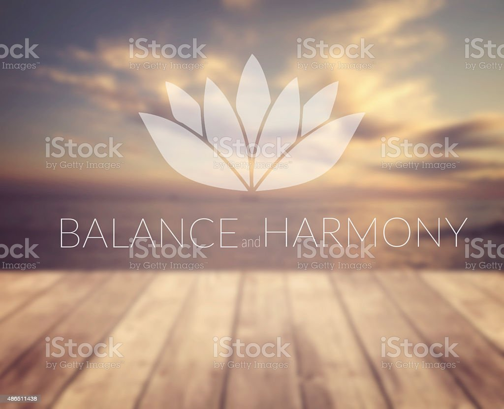 Balance and harmony. stock photo