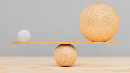 balance and harmony with different balls