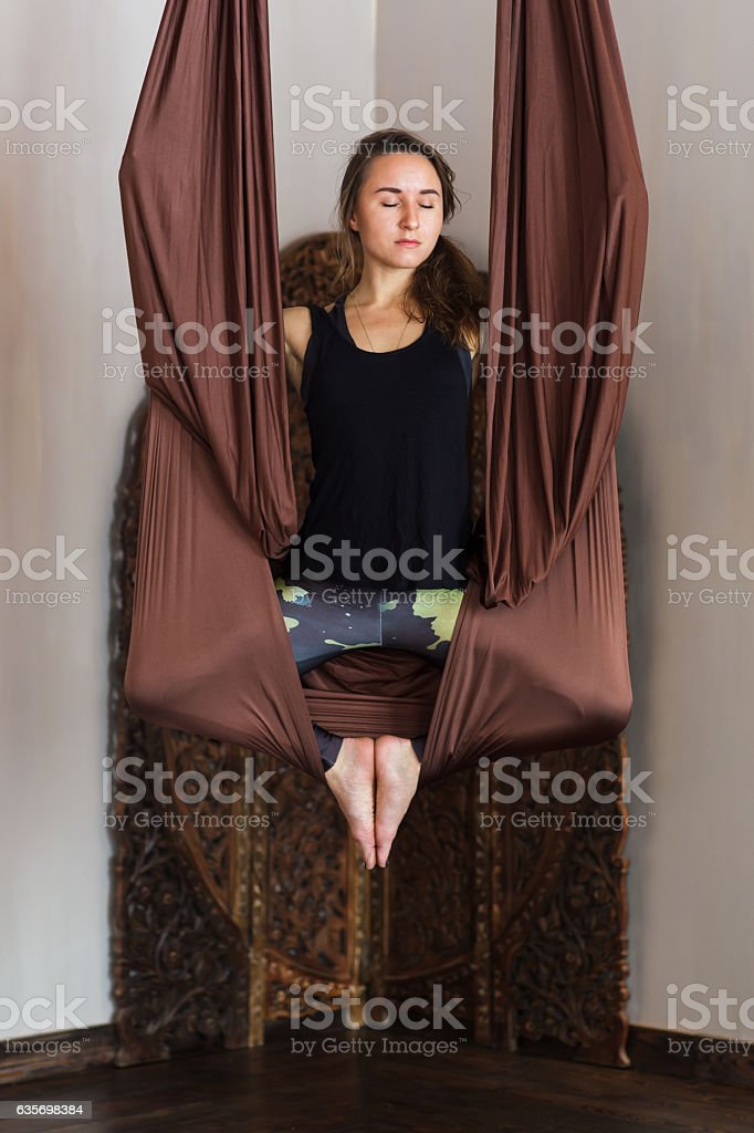 Balance asana for power in the hands and feet royalty-free stock photo