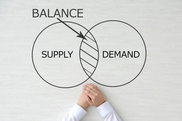 balance between demand and supply - deficient stock pictures, royalty-free photos & images