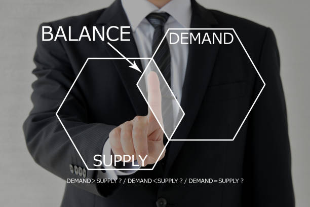 balance between supply and demand - deficient stock pictures, royalty-free photos & images