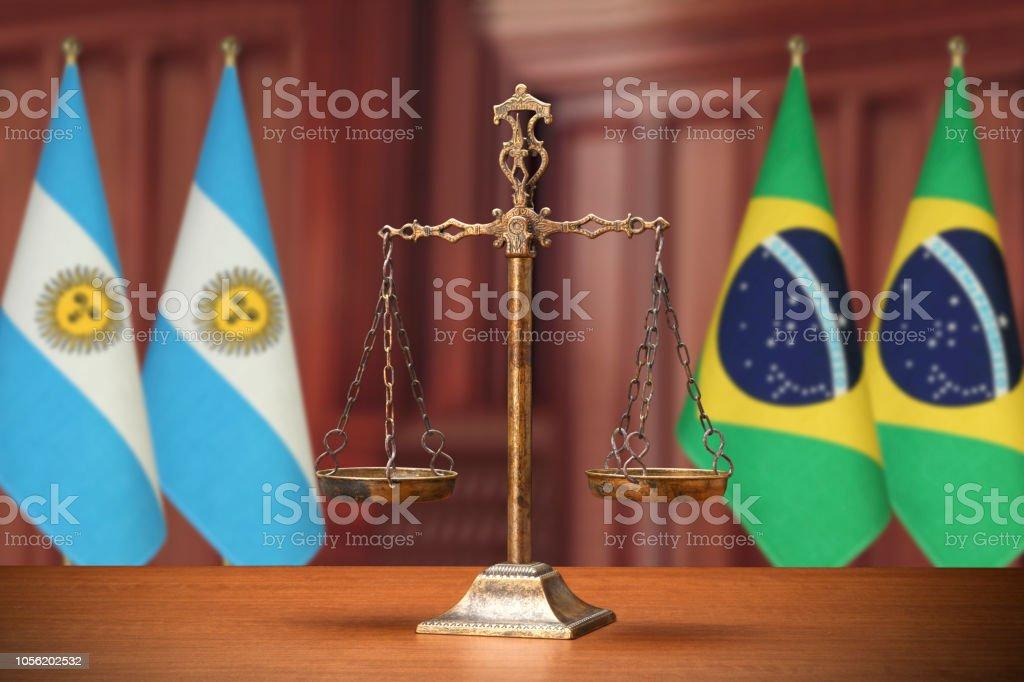 Concepto de equilibrio de derecho y la justicia - foto de stock