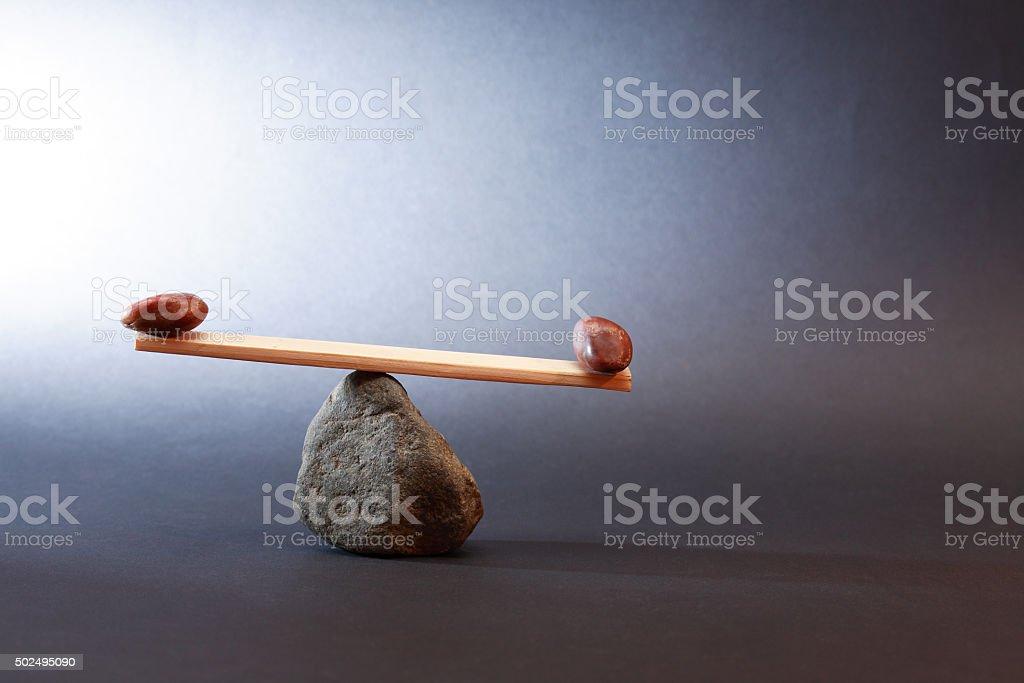 Concepto de equilibrio - foto de stock