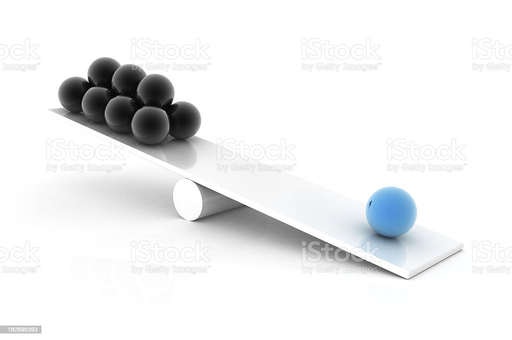 Balance concept with sphere stock photo