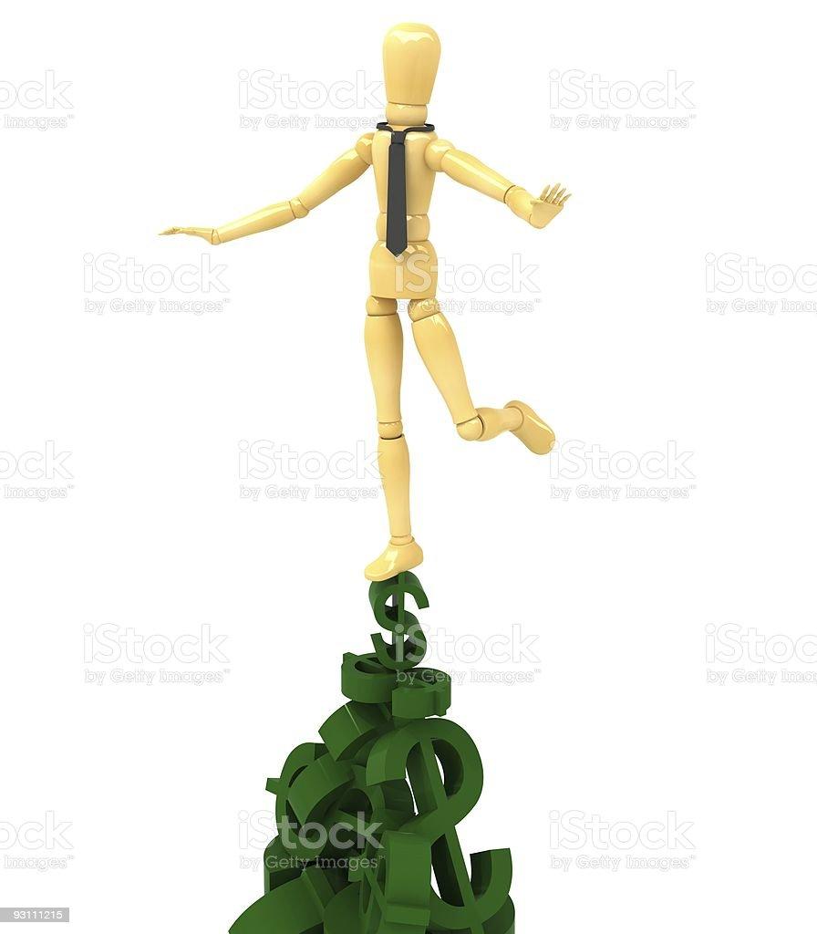 balance doll money - Royalty-free Bebek - Oyuncak Stok görsel