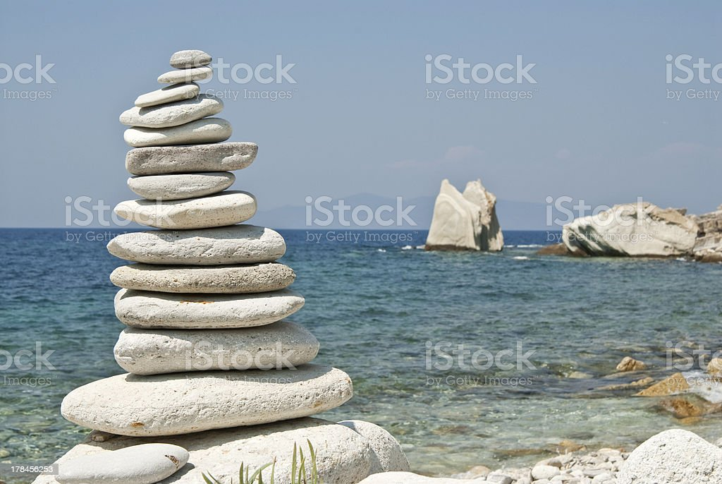 balance in blue royalty-free stock photo