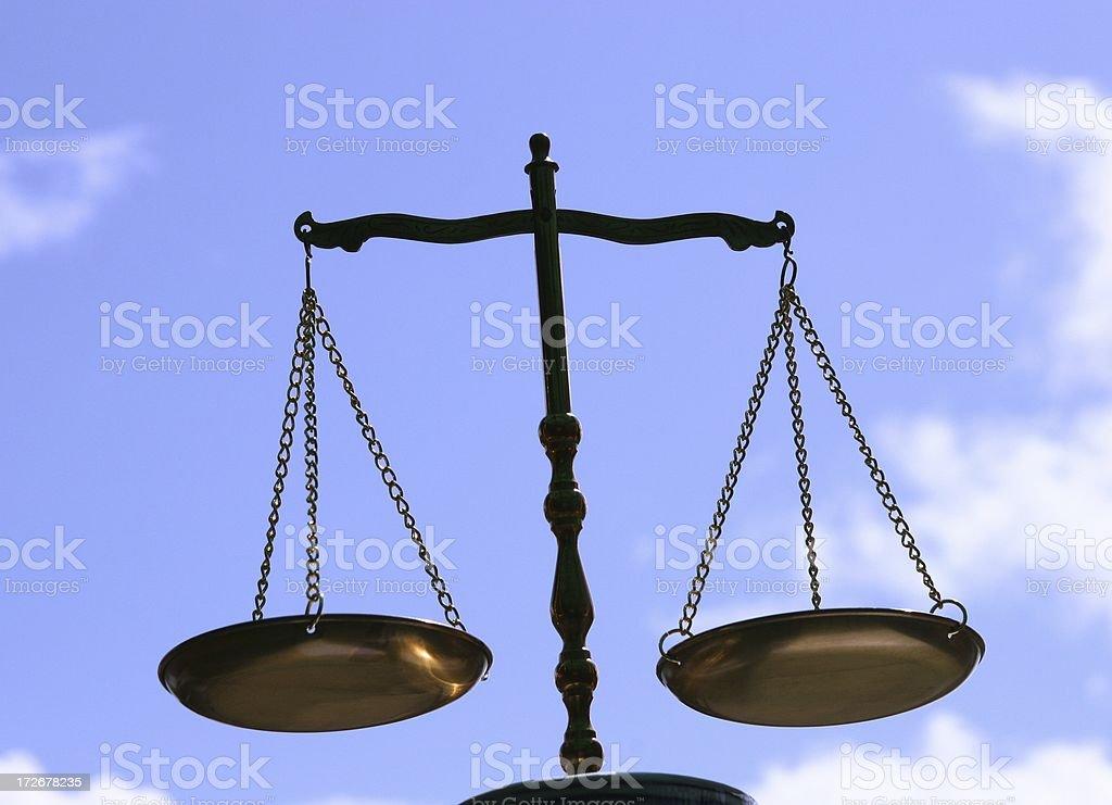 Balance, Justice, libra, Blue Sky royalty-free stock photo