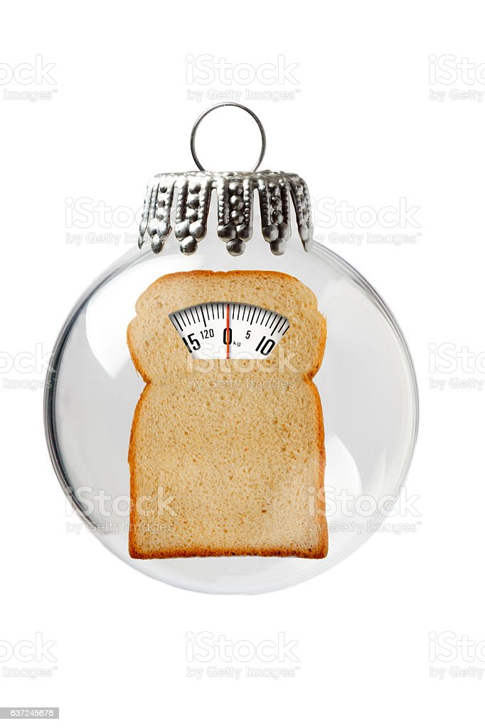 Balance made of Bread in a Christmas Ornament stock photo