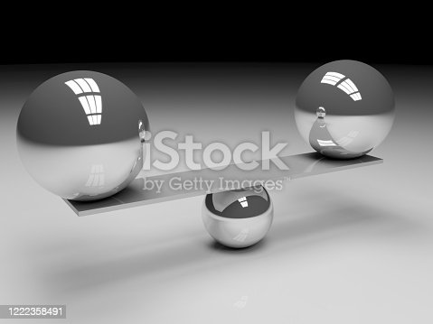 876632832 istock photo Balance metal balls 1222358491