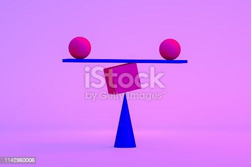 1086776968 istock photo Balance, Minimal Concept, Neon Lights 1142960006