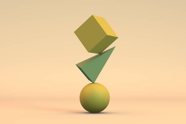 équilibre, concept minime - shapes photos et images de collection