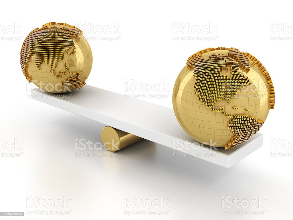 Balance of global financial market royalty-free stock photo