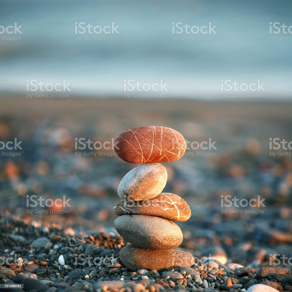 balance of pebbles royalty-free stock photo