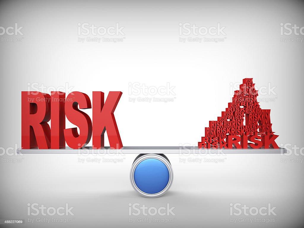 Balance of risks stock photo