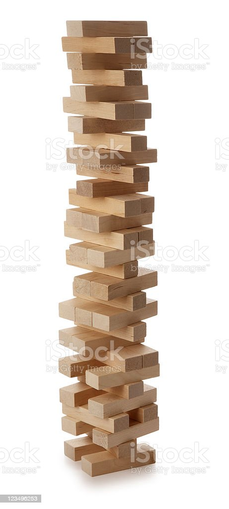 balance of wooden blocks royalty-free stock photo